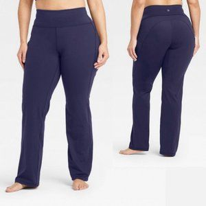 All In Motion Long Navy Blue Contour Curvy Pants